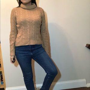 Charter club tan turtleneck sweater